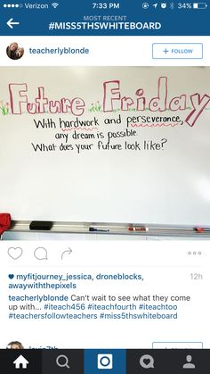 Future Friday....With hardwork and perseverance, any dream is possible. What does your future look like?
