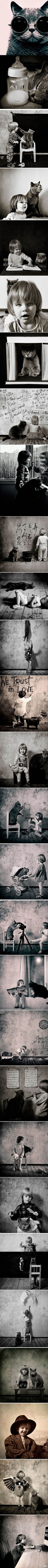Cat and kid  via Vesna Kustudic via Chloe Cao