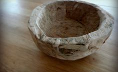 wooden bowl hand carving