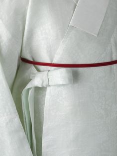 J Kim (My work i), Hanbok, Korean clothes  Robe for mens with a woven braided belt   (Changeui in Korean)...  Materials: Silk (gauze weave), Ramie (lining)  Style: Korean Traditional Style