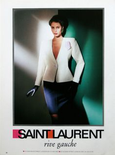 1988 - Yves Saint Laurent Rive Gauche adv - Christy Turlington by Gian Paolo Barbier