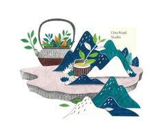 Hui Liu Tea on Behance Art And Illustration, Illustrations And Posters, Sketch Painting, Easy Drawings, Hand Painted, Artwork, Prints, Image, Logo Rice