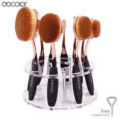 Docolor Hot ovale di trucco pennelli 10 pz brush set pennelli trucco professionale set titolare spazzolino da denti trucco brushe con vendita al dettaglio Box