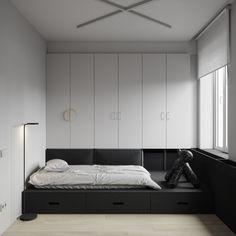 Bedroom Bed Design, Home Bedroom, Platform Bedroom, Interior Architecture, Interior Design, Single Bedroom, Kids Room Design, Small House Design, Furniture Design