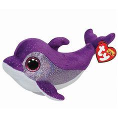 Ty Flips the Purple Dolphin Beanie Boos Stuffed Plush Toy