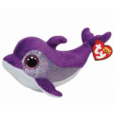 Ty Flips the Purple Dolphin Beanie Boos Stuffed Plush Toy