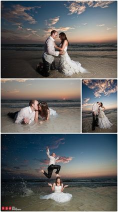 trash the dress at sunset