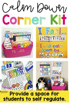 Do you have challenge behaviors in your classroom? Having a calm down corner in you classroom will transform your behavior management. It is so vital for students to have a safe space to regulate emotions. This calm down corner kit has everything you need Classroom Community, Special Education Classroom, Kids Education, Primary Education, Continuing Education, Physical Education, Calm Down Kit, Calm Down Corner, Classroom Behavior Management