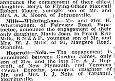 Auckland Star 1/08/1945 Auckland, Family History, Engagement, Star, Engagements, Stars, Genealogy