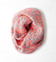 Neon Runner Pink AEO Geo Knit Loop Scarf