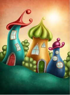 Magical Kingdoms Stretched Canvas 24371 by Wall Art Prints Fantasy Village, Wall Art Prints, Canvas Prints, Art Terms, House Illustration, Kids Room Wall Art, Sand Art, Community Art, Royalty Free Photos