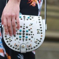 "Spotted while shopping on Poshmark: ""Rebecca Minkoff White Studded Crossbody Bag""! #poshmark #fashion #shopping #style #Rebecca Minkoff #Handbags"