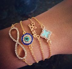 Delicate Stacked Bracelets for Summer | Build Your Bracelet Now at LunaMarin.com