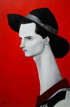 #man #paint #illustration #ink #acrylic #drawing #art