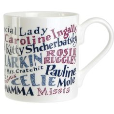 Mothers in Literature Mug Mrs Bennet, Mothers Day Dinner, Literary Gifts, China Mugs, My Cup Of Tea, I Love Books, Mug Cup, Bone China, Cool Gifts
