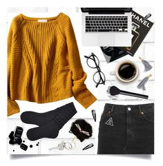 """""""Cozy Oversized Sweaters"""" by brynhawbaker ❤ liked on Polyvore featuring Tempaper, UGG, Naomi Campbell, Assouline Publishing, Topshop, Paul Smith, Kate Spade, J.Crew, Chanel and Bobbi Brown Cosmetics"""