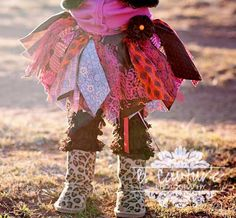 Fabric Scraps Tutu Skirt Shabby Chic Orange Pink and by mytutucute, $24.99 Scrap tutu Scrappy skirt