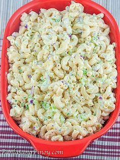 Easy Macaroni Salad is a quick and simple macaroni salad recipe that makes use of elbow macaroni, mayonnaise, sour cream, and some veggies and spices
