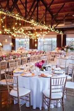 Colorful Rustic Dallas Wedding from Sarah Kate - wedding reception idea