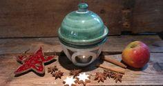Weihnachtsengel handmodelliert aus Keramik, Adventsteller, Duftlampen, Gebäckteller und Dosen, Teelichthalter, Windlichter - handgefertigt.