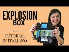Explosion Box With Fun Fold Cards Boite Explosive, Explosion Box Tutorial, Exploding Box Card, Envelope Punch Board, Scrapbook Albums, Scrapbooking, Fun Fold Cards, Diy Box, Big Shot