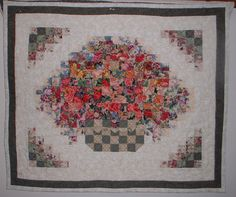 """water color quilt made with 2"""" square blocks made by Sandy R."""