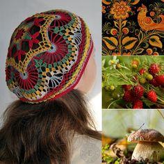 Вязаные летние бохо-шапочки   Бохо стиль