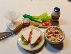 Tuna sandwich #dollhouse #handmade #dollhouseminiatures #miniature #dollhousefood #miniatures #etsy #etsyshop #polymerclay #fimo #craft #tuna #tunasalad