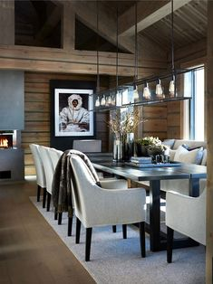 69 Trendy Home Interior Rustic Chalet Style Homes Interior Rustic Contemporary House, Modern Houses Interior, Cabin Interiors, Interior Design, House Interior, Contemporary Rustic Decor, Beautiful Modern Homes, Home Decor, Contemporary Home Decor