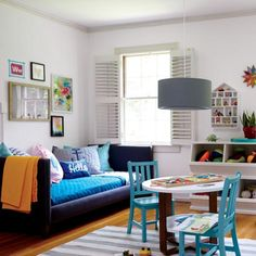 Multipurpose playroom and guest bedroom