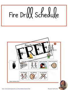 Make sure your AAC users know what to do in a fire drill - or in case of a real fire. Practice following the safety procedures with visual cues to increase comprehension in your elementary or older students. Speech Language Therapy, Speech Therapy Activities, Language Activities, Speech And Language, Communication Development, Language Development, Fire Drill Procedures, Resource Room Teacher