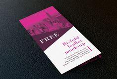 Free bi-fold leaflet mockup