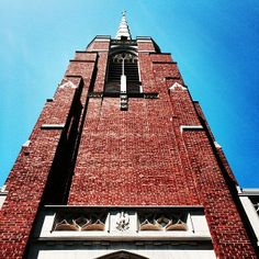 """Steeple of Edenton Street United Methodist Church, Raleigh, NC  """"I protest by your rejoicing which I have in Christ Jesus our Lord, I die daily"""" (1 Corinthians 15:31)"""