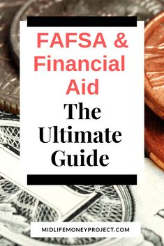 Learn more about FAFSA and how to apply for financial aid in the United States. The ulitmate guide to filing the FAFSA and finding the money you need for college.  via @ Financial Aid For College, Scholarships For College, Education College, School Scholarship, Apply For College, College Tips, College Search, Importance Of Time Management, Online College