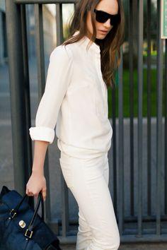 Emerson Fry White Shirtdress & White Denims