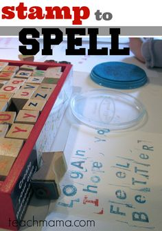 stamp to spell | use stamps for early literacy learning and spelling | teachmama.com