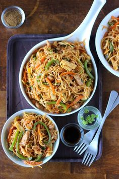 Indulge in a bowl of Schezwan Chicken Noodles with this recipe.