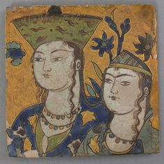 Tile Date: second half 17th century Geography: Iran Culture: Islamic Medium: Stonepaste; glazed
