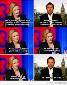 Hugh Laurie being awesome.