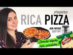 Cómo hacer PIZZA casera en #AirFryer   Comida Rápida Saludable   Receta Fácil - YouTube Bon Appetit, Fries, Yummy Food, Beef, Easy, Youtube, Deep Fryer Recipes, Air Fryer Recipes, Cook