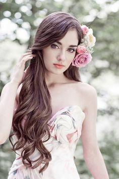 bridal hair and make up perfection - makes me want to grow my hair!