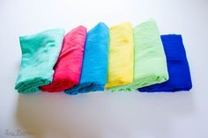 Make a quick and easy DIY swaddle blanket out of crinkle gauze for a summer baby.