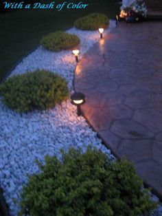With a Dash of Color: Front-yard Landscaping and Wins -for the front drive.