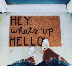 Hey What's Up Hello Doormat - Apartment Decoration