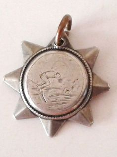 DIVING / SWIMMING SOLID SILVER FOB MEDAL = 1897 WALSALL S.C.   eBay, £29.99 / 24 mm x 24 mm