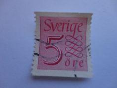 5 ORE SVERIGE Postage Stamp