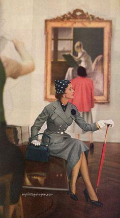 Harper's Bazaar March 1950 - Photo by Genevieve Naylor