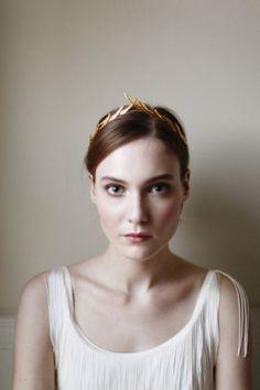 Delicate feminine headband: http://www.stylemepretty.com/2014/12/02/20-of-our-favorite-bridal-headbands/ #SMPLookBook