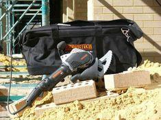 Arbortech Brick and Mortar Saw Saws Through Brick Like Butter - Arbortech brick saw AS170 Concrete Saw, Concrete Patios, Brick Saw, True Up, Like Butter, Construction Tools, Brick And Mortar, Seesaw, Cool Tools