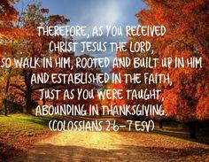 colossians 2:6-7 esv - Google Search